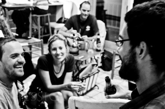 Get together after class--inside Lauren and Erik's studio