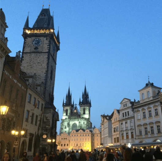Prague--the towers that inspired the witch's castle in Sleeping Beauty