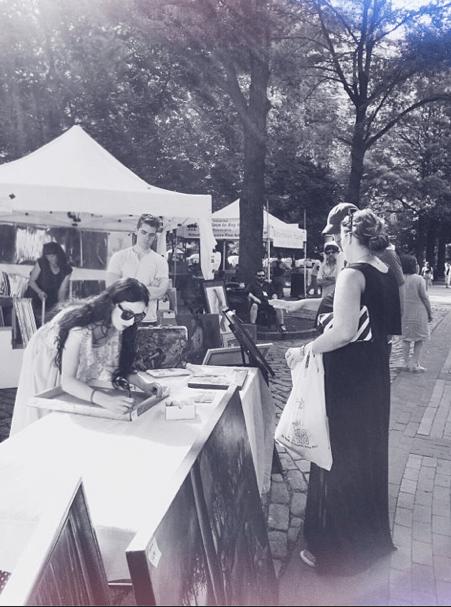 At the Rittenhouse Square Art Fair, 2014