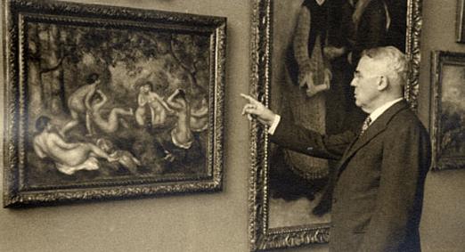 Mr. Barnes with a Renoir