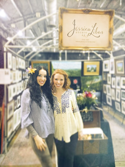 Me and my friend Emily at the flower show