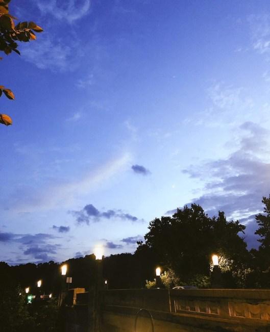 blue sky dusk landscape