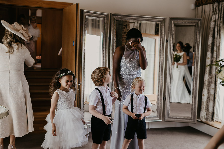 Paige boys and bridesmaids waiting for the bride