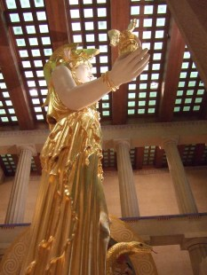 Athena stands tall in the Parthenon