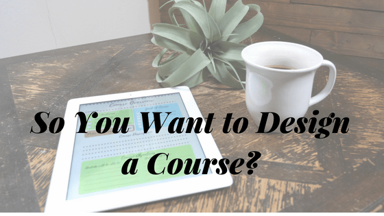 Online Course Design
