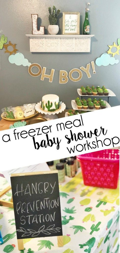 Planning a baby shower? Skip the games and give her what she really needs when the baby arrives: freezer meals! See how to have a freezer meal baby shower here!