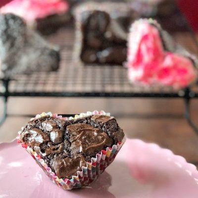 Easy Heart Brownies