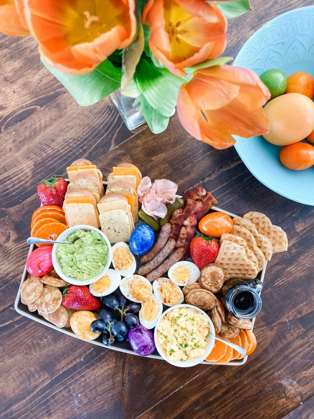 Create an Easter brunch board for the upcoming holiday—eggcellent for grazing and enjoying everyone's favorite foods. This post shares several ideas to prep ahead of time, too.