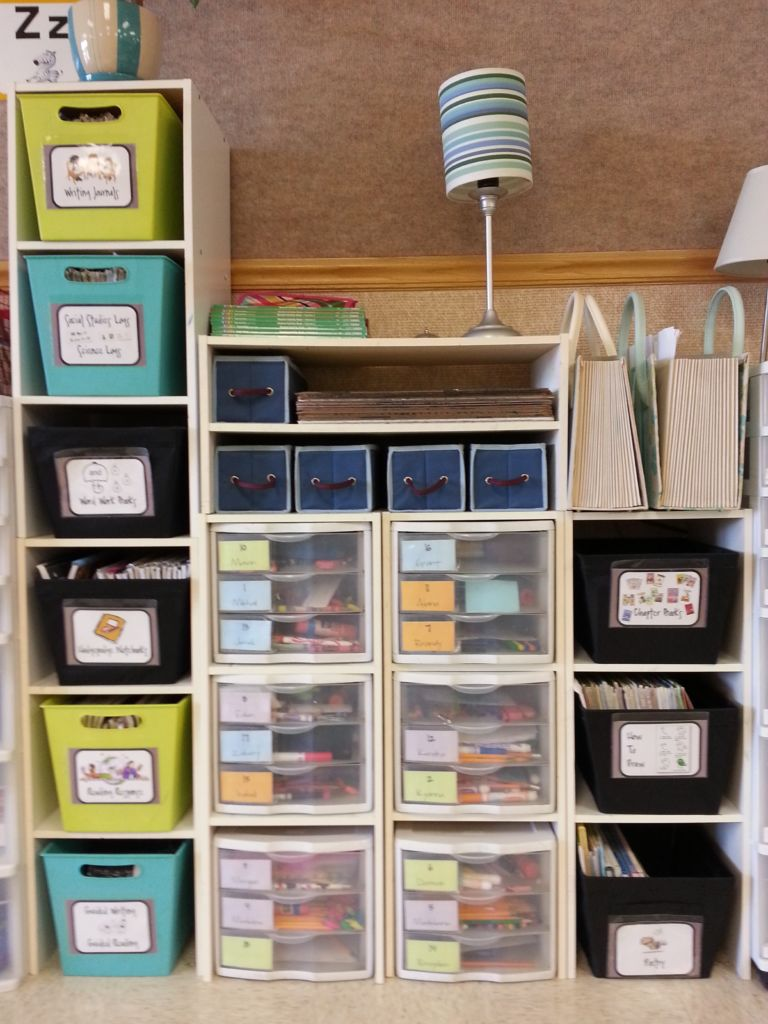 Student Notebook Storage in a Flexible Seating Classroom