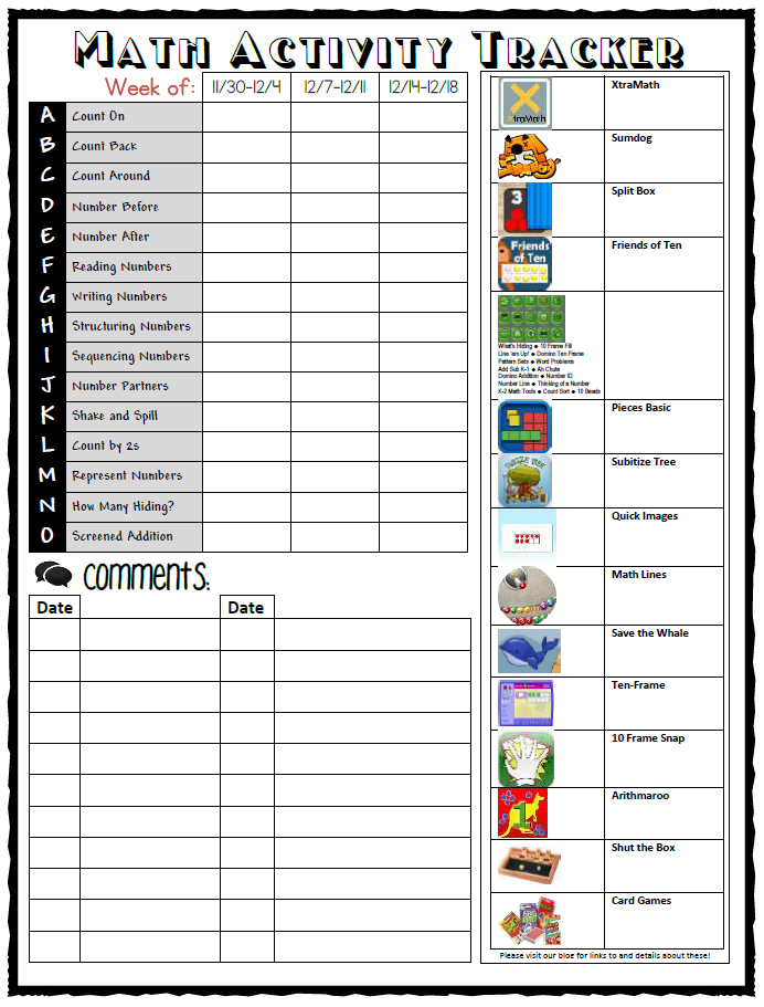 Worksheet-less Math Homework – Classroom Snapshots