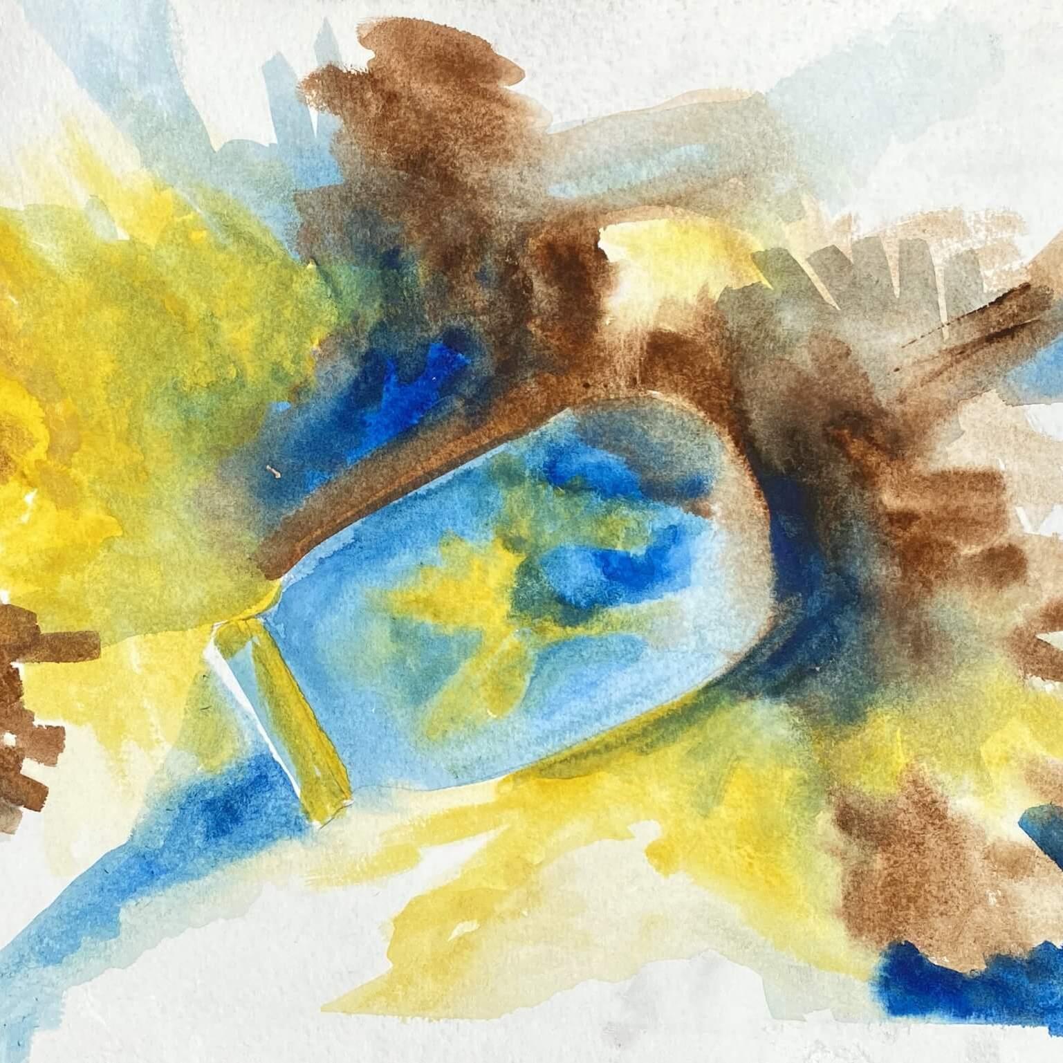 Jar of Stars - Watercolor illustration
