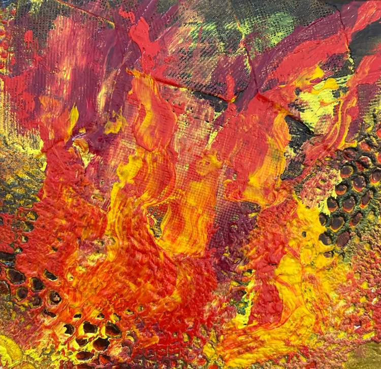 On Fire - Abstract painting