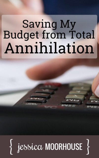 How I saved my budget from total annihilation. This kind of mental game worked like a charm, and I was able to stick to my budget and save quite a bit of money, even though I was making the lowestsalary of my career.