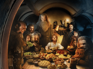 dwarves show up at Bilbo's house