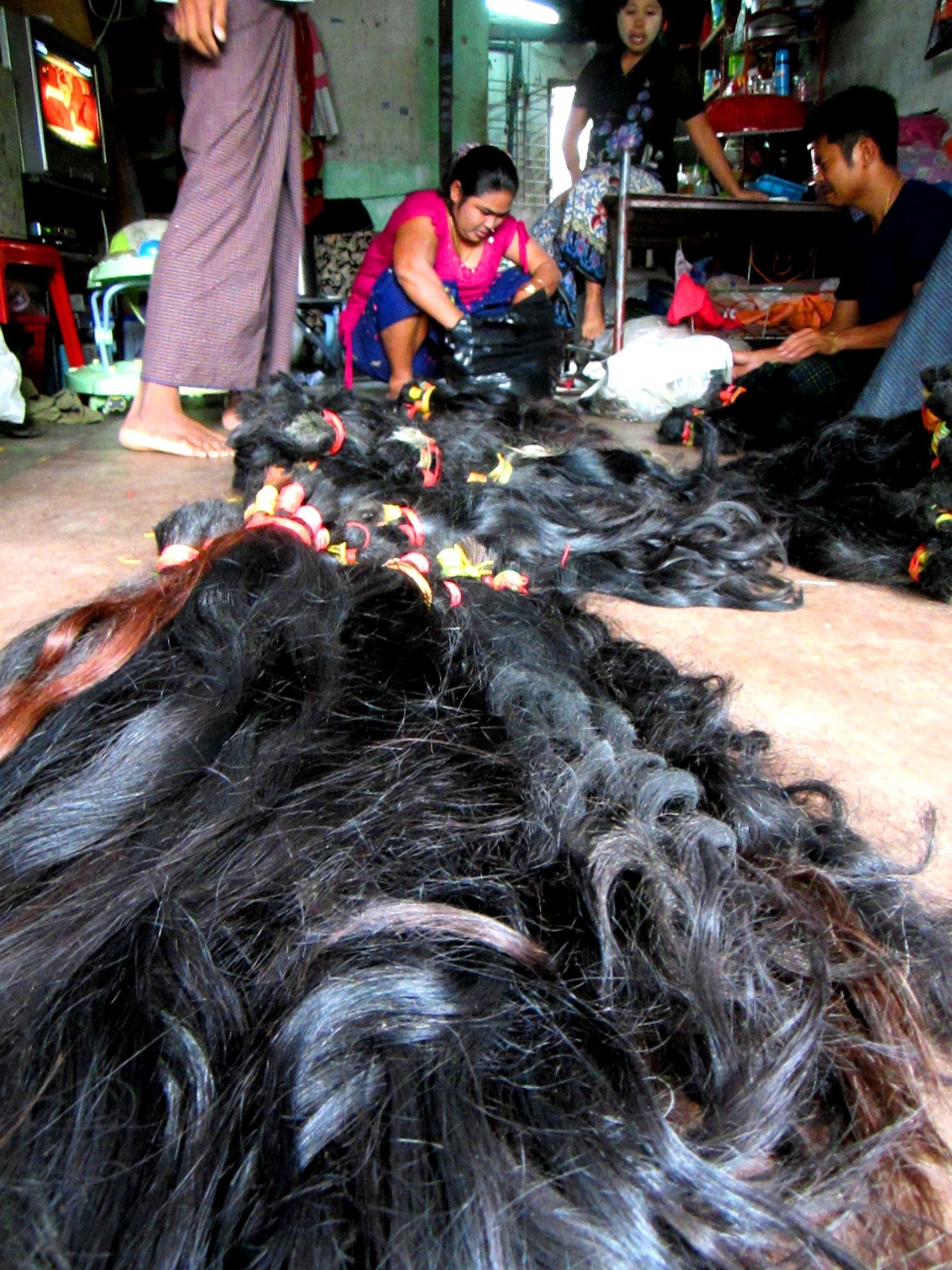 Selling Hair Myanmar Burma Jessica Mudditt