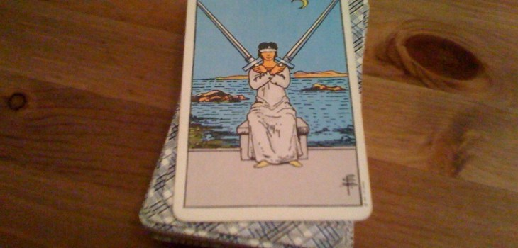Single Card Reading The 2 Of Swords Blocked Emotions Avoidance Stalemate Yes