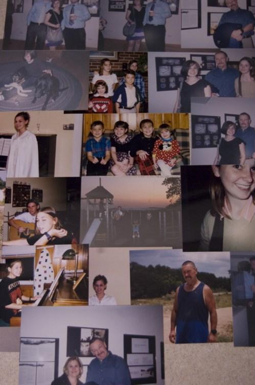 Graduation, swingset, dad, college exhibition