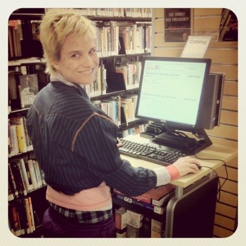 library cute outfit