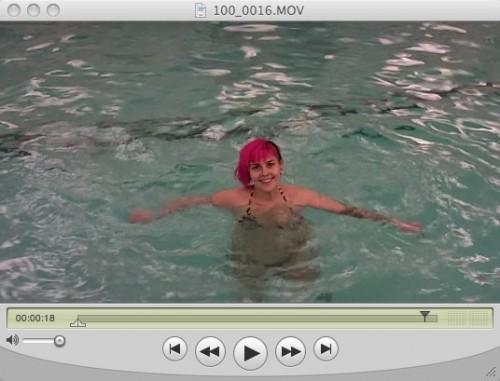swimmin!