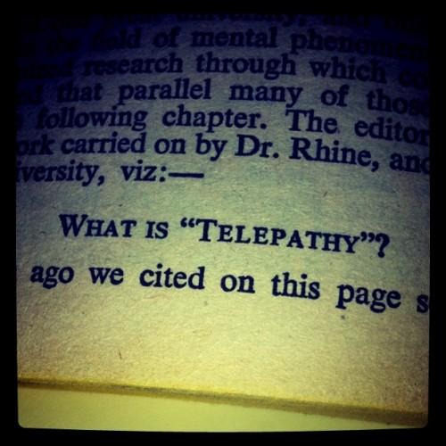 what is telepathy