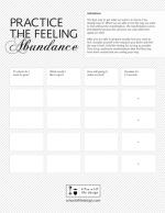 Practice the Feeling: Abundance