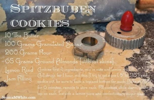Cookies and Memories My Oma's Spitzbuben Cookie Recipe @JessicaMWhite.com