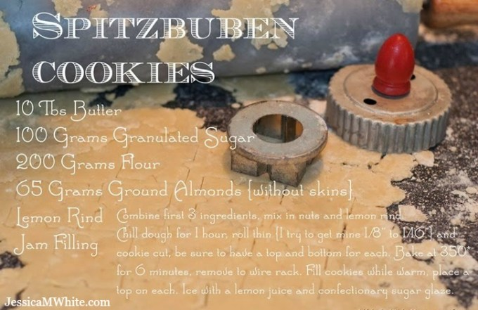 Cookies and Memories My Oma's Spitzbuben Cookie Recipe @JessicaMWhite.com