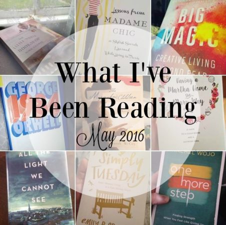 What I've Been Reading May 2016