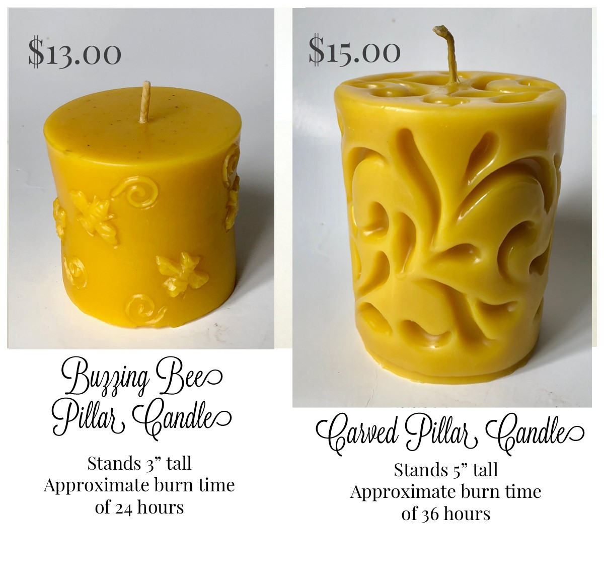 Taking Orders for Beeswax Candles