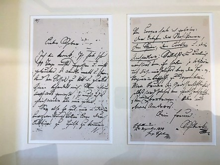 The last letter Schubert wrote, asking for good books to read.