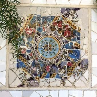 Barcelona JN Park Guell mosaics 3