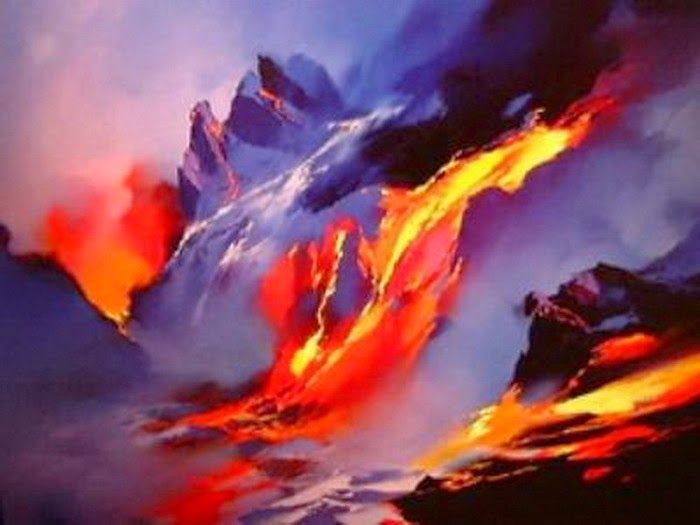 Firedance oil painting by Hong Leung
