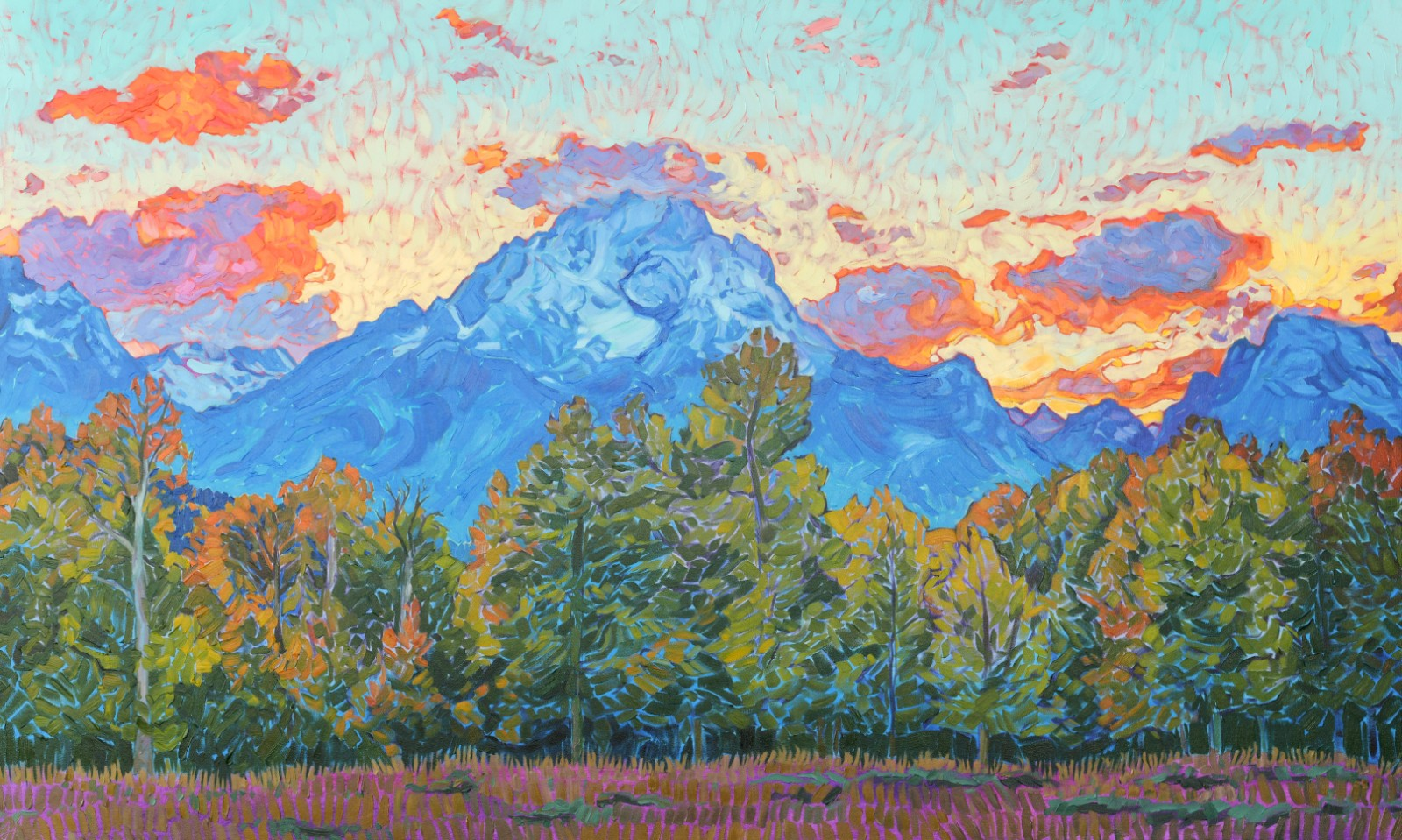 Fire Over the Tetons