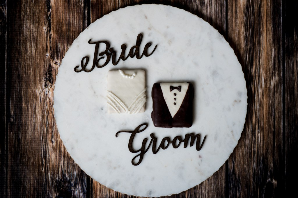 Jessica Patricia Photography Red Heart Creations Custom Wooden Bride & Groom Laser Cut Place Cards