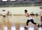 Syris Apdian, 16, during basketball drills at Churchill Secondary.