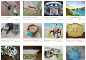 spring green treasury for the Salem Etsy Team
