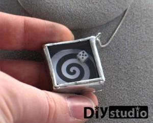 necklace giveaway, fortune shaker, soldered art necklace