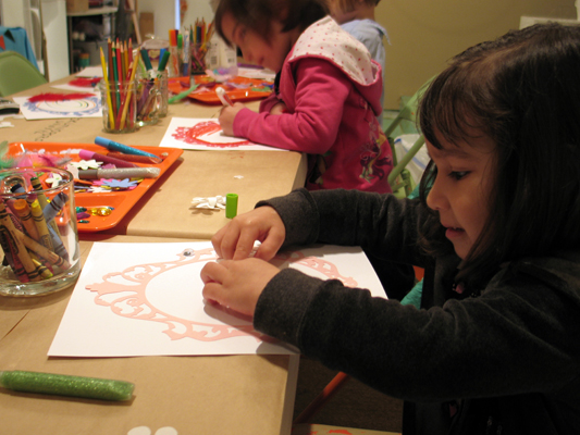 drawing and creating with kids
