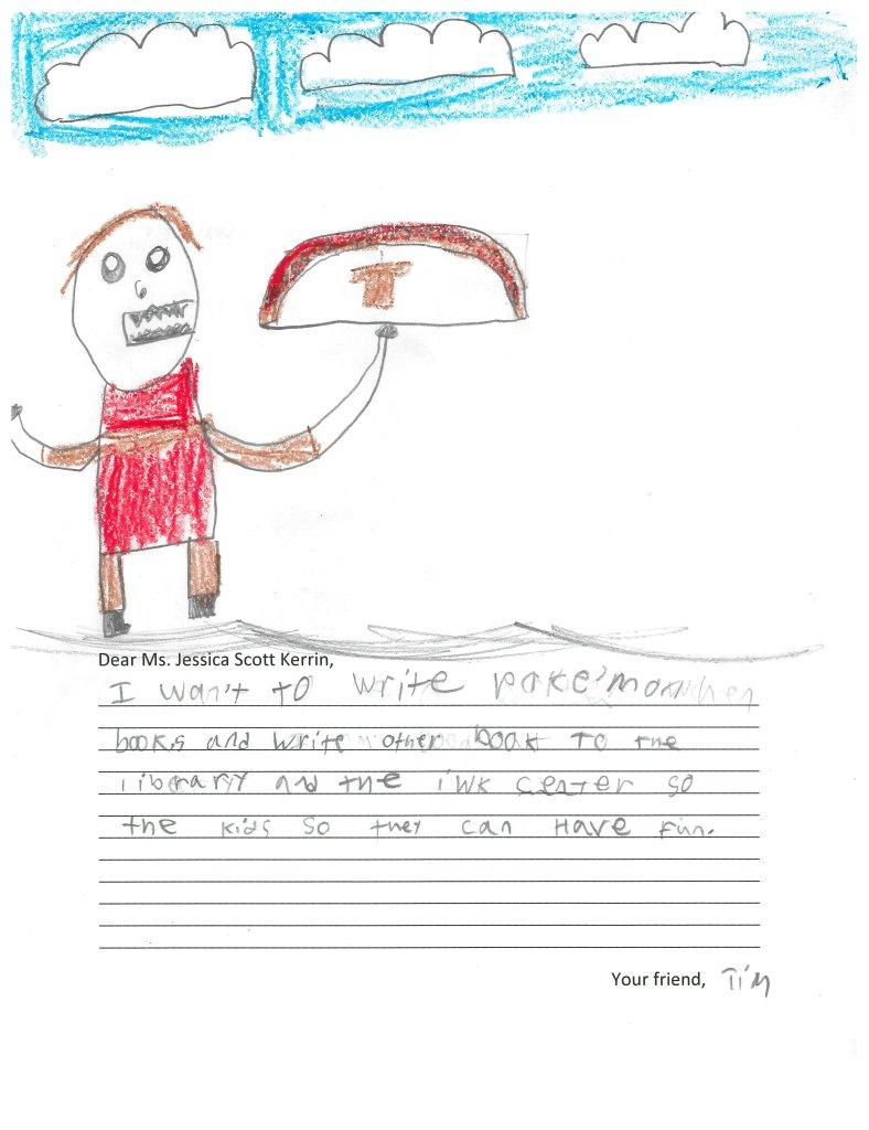 Child's drawing of Pokemon