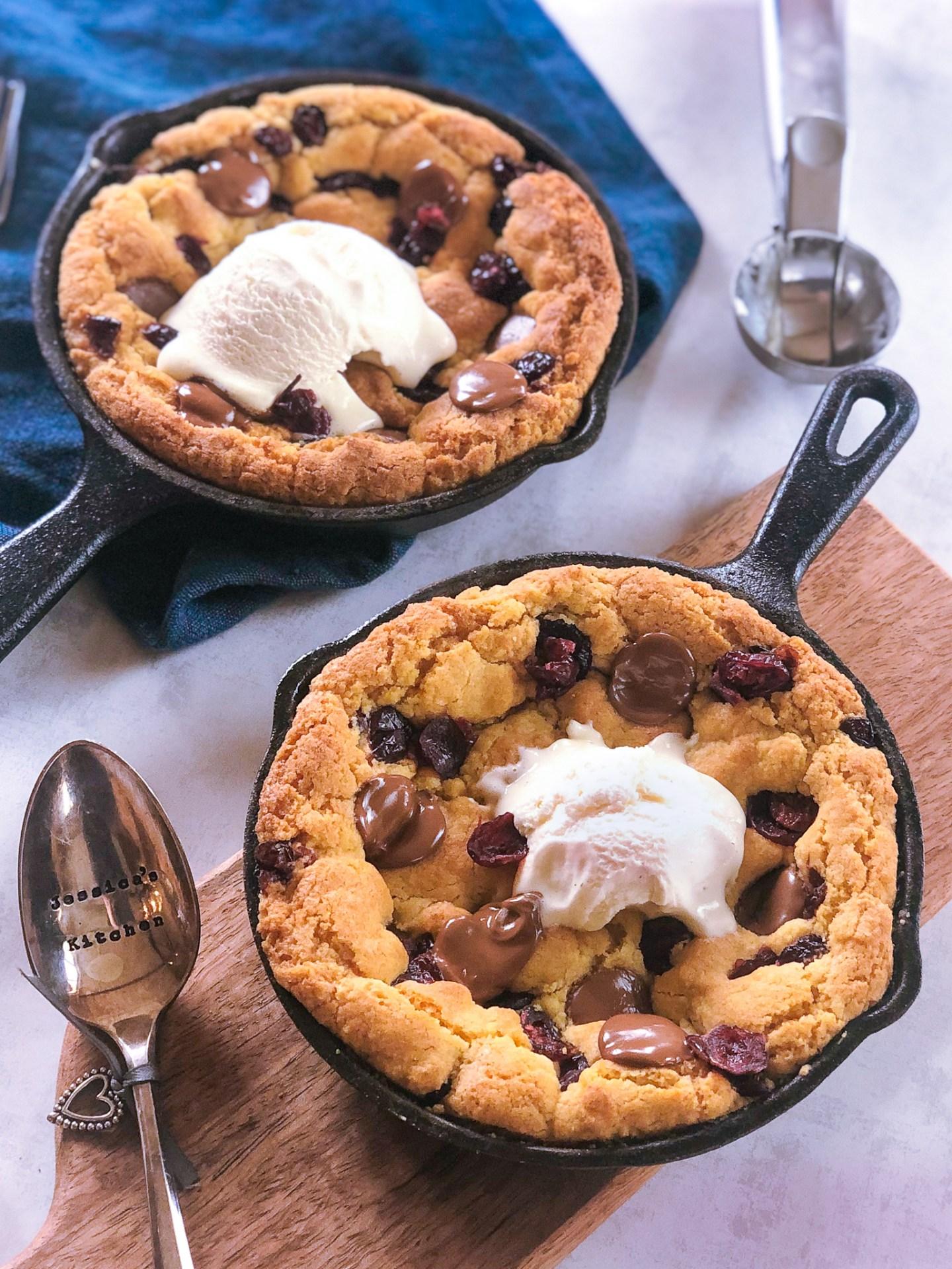 gluten free skillet cookie