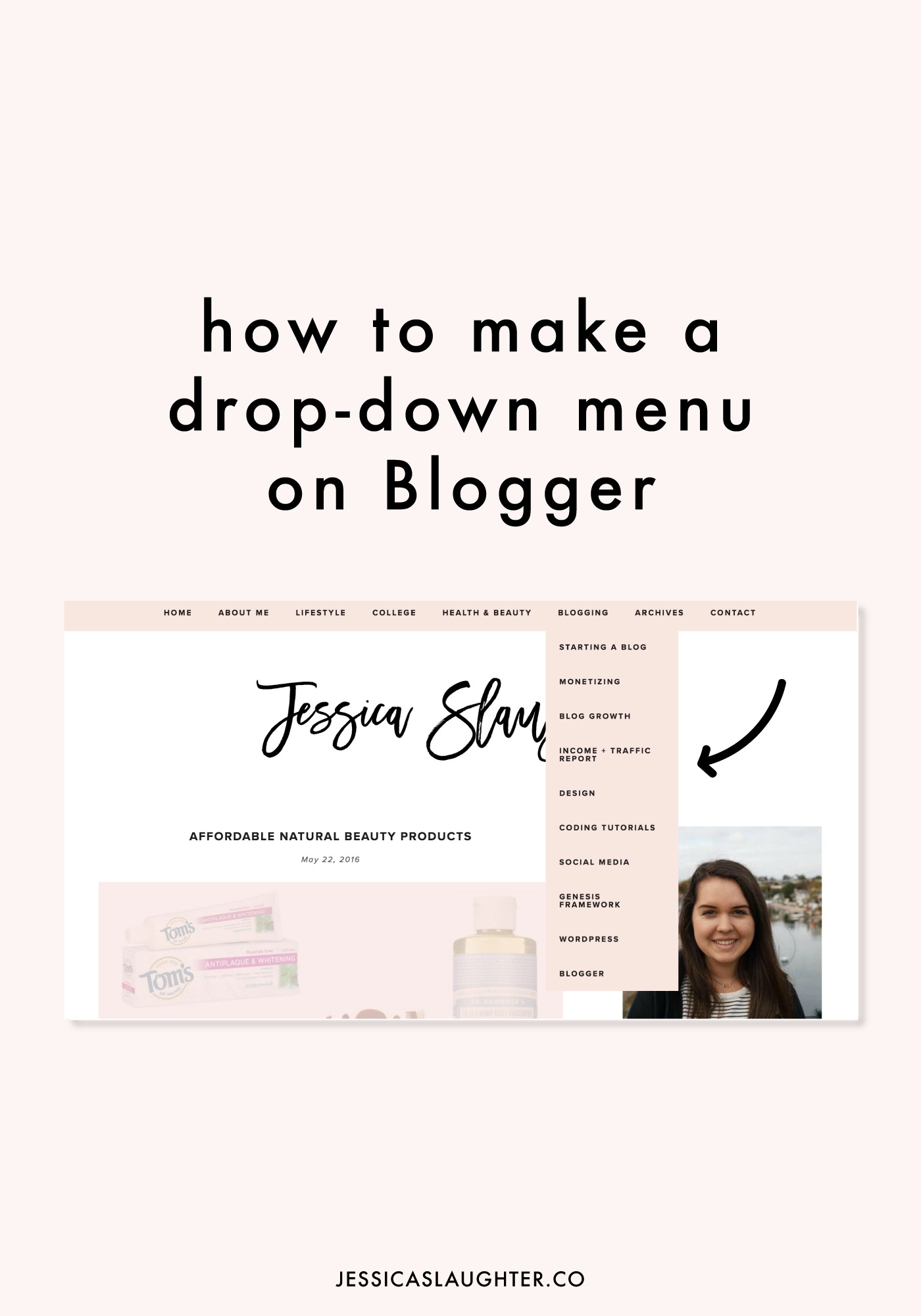 How To Make A Drop-Down Menu on Blogger