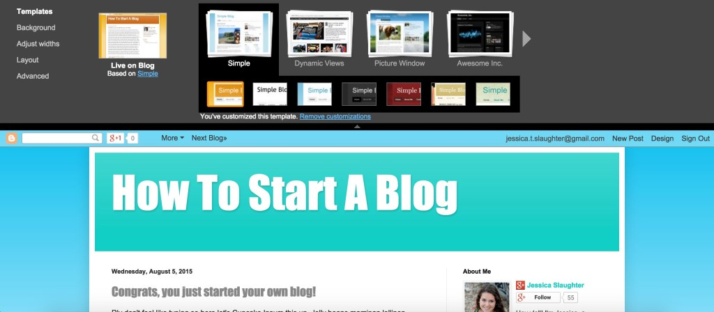 How To Start A Blog On Blogger
