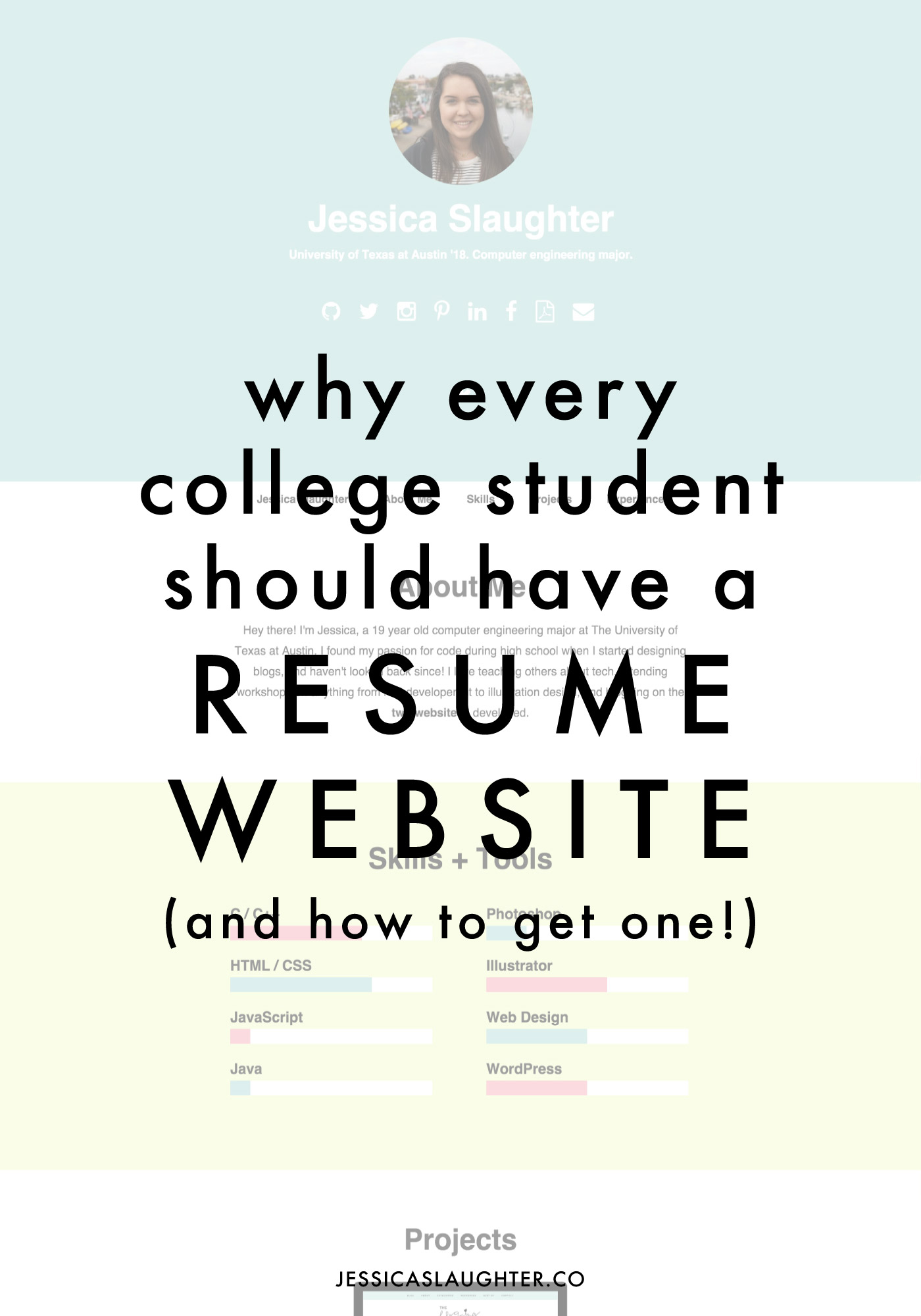 Why Every College Student Should Have A Resume Website - Jessica ...