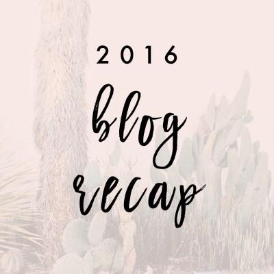 2016 Blog Recap