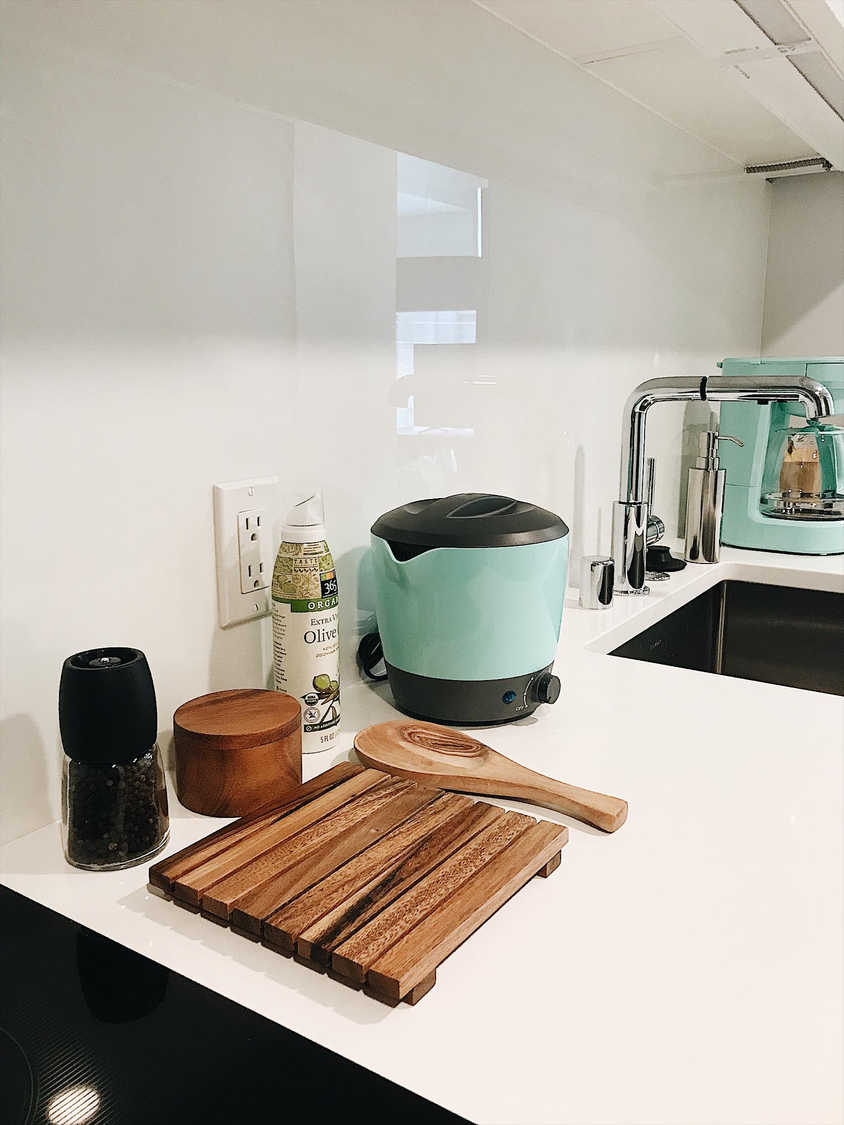 kitchen sneak peek of new apartment