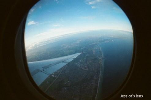 Fisheye view of the sky