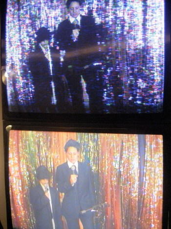 Kray Twins Performace, detail from monitor
