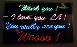 Thank You LA, Donna Summer, neon (1999)