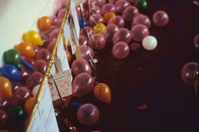 The Baby Shower, Camden Arts Centre, detail (1995)