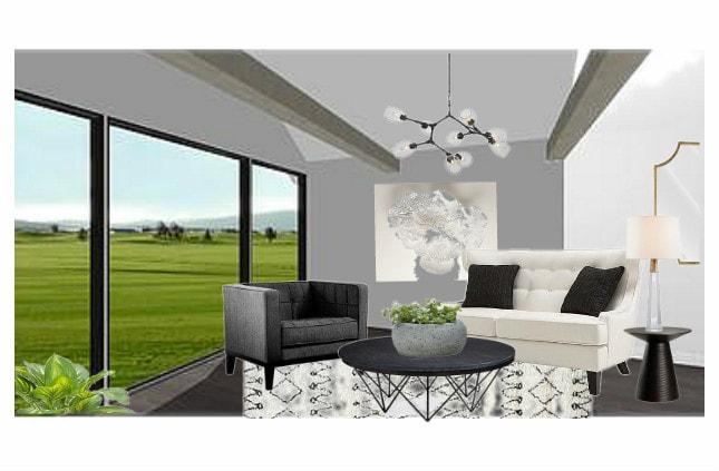 Midcentury Glam Living Room